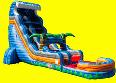 Tropical Fireblast Tsunami Water Slide - 22ft
