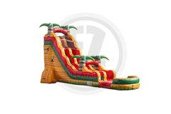 22 ft Tropical Fiesta Breeze Water Slide with Pool