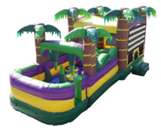 Tropical Obstacle Bounce House Combo