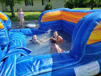 22 ft Illini Water Slide pool