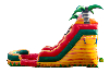 15 ft Tropical Fiesta Breeze water slide side view