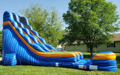 Water Fun 22 ft Illini Slide with Pool