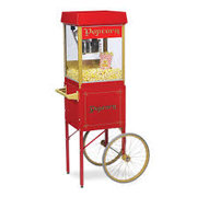 Red Popcorn Machine with Cart