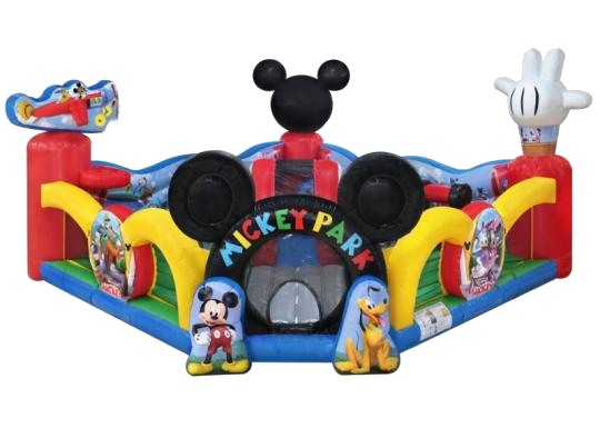 Mickey and Friends provide the most awesome soft play obstacle course / bounce house combo in Austin!