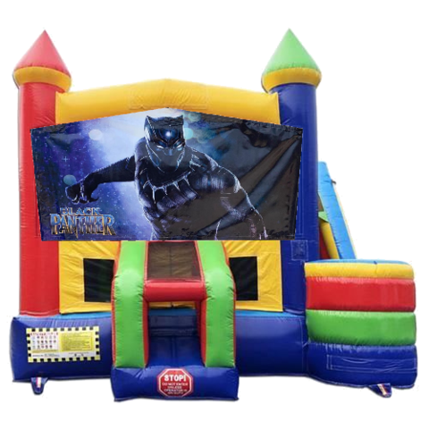 Black Panther Castle Combo With Side Slide