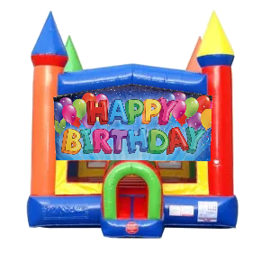 Happy Birthday Moonwalk Castle Bounce House