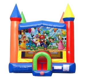 Super Mario Moonwalk Castle Bounce House