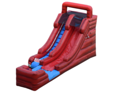 15 ft Single Lane Water Slide in Marble Red