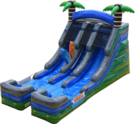 16 ft Tropical Double Lane Water Slide