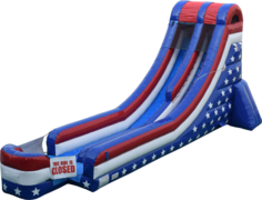 18 ft Stars & Stripes Water Slide
