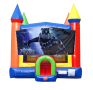 Black Panther Moonwalk Castle Bounce House