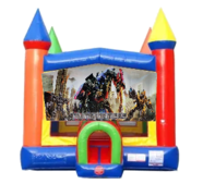 Transformers Moonwalk Castle Bounce House