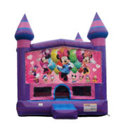 Minnie Mouse Purple Castle Moonwalk