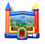 Spongebob Moonwalk Castle Bounce House