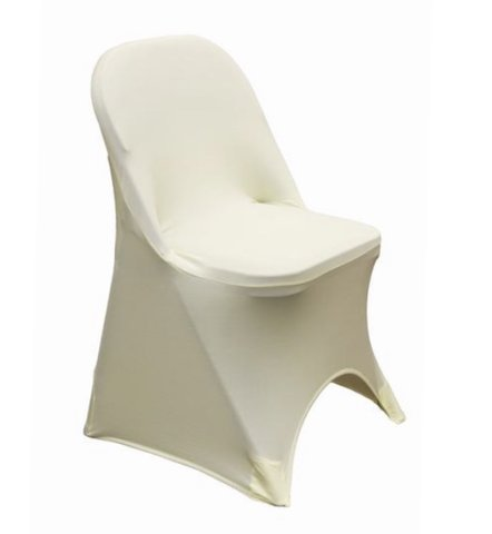 Folding Chair Cover, Spandex Ivory