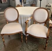 Chair, Mr & Mrs Ivory/Wood Chairs (pair)