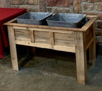 Rustic Beverage Station