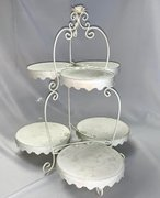 Display: Ivory two-tier large w/rose