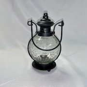 "Lantern, Black w/Flameless Candle 8""H"
