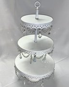Display: Ivory 3-Tier w/Bling
