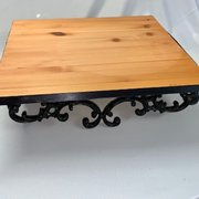 "Cake Stand: Black Iron Base 24""L x 24""W x 6""H"