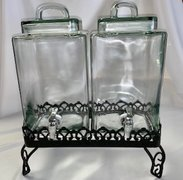 Beverage Server, Double Glass Drink Container