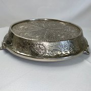 "Cake Stand:  Victorian, 17"" Diameter, Silver Low Profile"