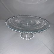 Cake Stand: Glass with Ball Edge 12""