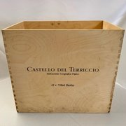 "Castello Del Terriccio Wine Box, Wood 19.5""Lx12""Wx17""H"