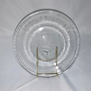 "Plate, Dinner, 10"" Clear Round"