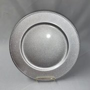 Charger, Silver Round