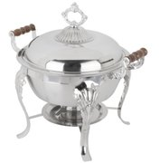 Chafer, Fancy Stainless Steel Round