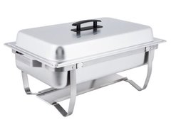 Chafer, Stainless Steel Straight Legged 8QT