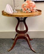 Oval Harp Lyre Table