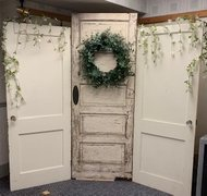 Backdrop, Shabby Rustic Tri-door, White