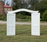 Arch, Curved Top 4-door, Shabby Rustic, Cream