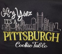 "Specialty: 54"" Square, Black, Pittsburgh Cookie Table"