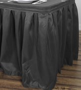 14' Table Skirting, Solid Poly Black