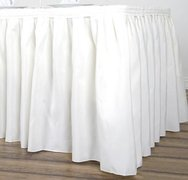 14' Table Skirting, Solid Poly Ivory