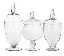 Candy Table Glass Vessel Trio