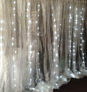 Drape, 600 LED/Organza Drape, 20'x10', Cool White