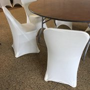 Folding Chair Cover, Spandex White
