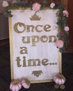 "Sign: Once Upon a Time, Gold, approx. 40""x50"""