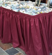17' Table Skirting, Specify color in notes