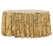 "120"" Round Gold Sequin"