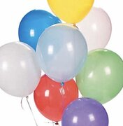 "12"" Balloons, Helium, Color Specified in Notes"