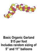 Balloon Garland, Basic Organic, price per foot