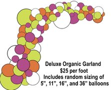 Balloon Garland, Deluxe Organic, price per foot
