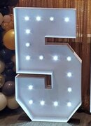 Mosaic Letters & Numbers, 5-Foot Lighted