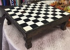 "Checkerboard Display, 19""x19""x7""H"